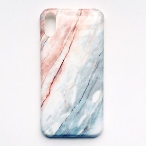 Accessories - NEW iPhone X Case Granite Stone Pink Blue Marble